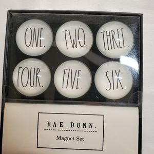 Rae Dunn Number Magnets One through Six New In Box
